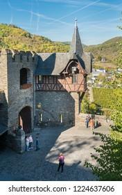 COCHEM, GERMANY, OCTOBER 2018 - Courtyard inside Cochem Castle, Germany