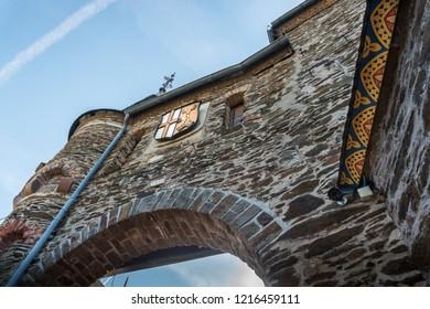 COCHEM, GERMANY, OCTOBER 2018 - Interior gate at Cochem Castle, Germany