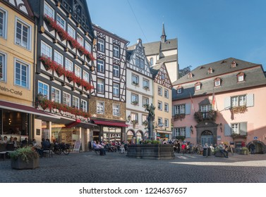 COCHEM, GERMANY, OCTOBER 2018 - Market square in the city of Cochem, Germany