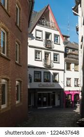 COCHEM, GERMANY, OCTOBER 2018 - street view of Cochem, Germany