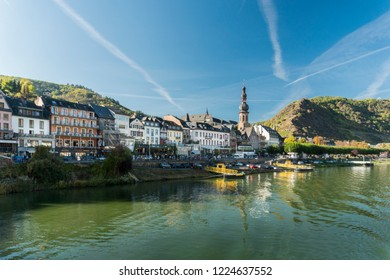 COCHEM, GERMANY, OCTOBER 2018 - view of the city of Cochem, Germany from the Moselle River