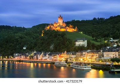Cochem Imperial castle in Germany