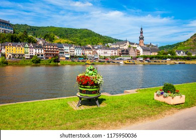 Cochem old town and Mosel river in Germany