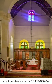 Cochin, Kerala, India : January 30, 2019 - Inside view of St. Francis Church which is the oldest european church in India