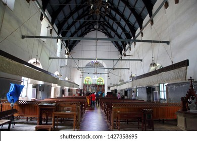 Cochin,India-June 1 2019 : The church is  the  last resting place of Vascoda Gama at Fort Cochin,Kerala.