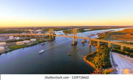 Cochrane Bridge over the Mobile River in Mobile, Alabama