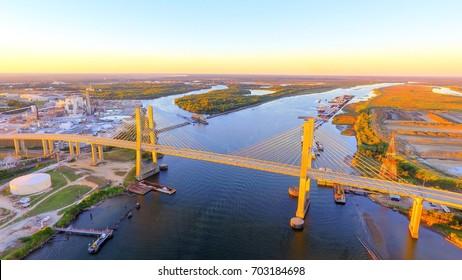 Cochrane Bridge over Mobile River