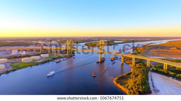 Cochraneafricatown Usa Bridge Mobile Alabama Stock Photo