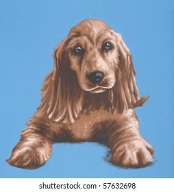 Cocker Spaniel Painting