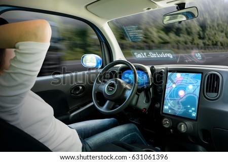 cockpit of autonomous car
