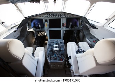 cockpit of custom jet cabin