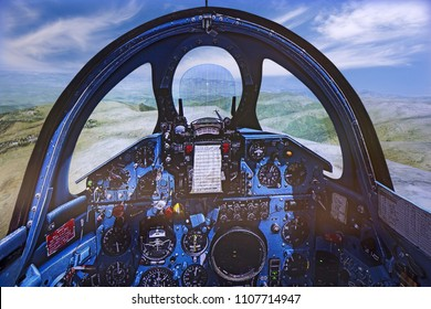 Cockpit of Flight Simulator - Mig 21