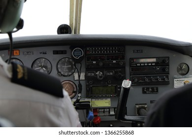 Cockpit instruments in a small aircraft
