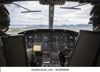 cockpit view of helicopter