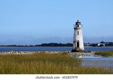 Cockspur Island Lighthouse near Savannah Georgia.