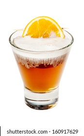 Cocktail Amaretto Sour isolated