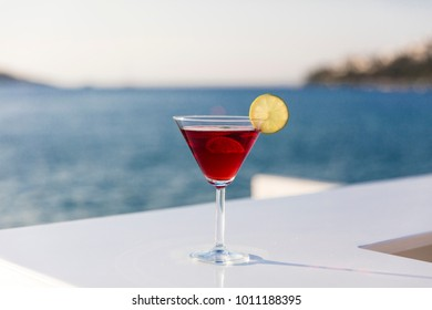 Cocktail at Beach Sunset