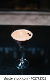Cocktail with coffee beans