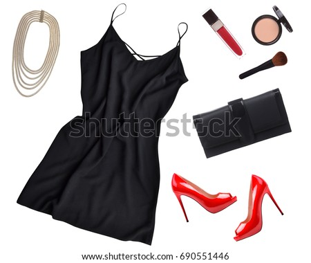 Cocktail Dress Outfit Night Out Look Stock Photo Edit Now