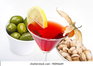 cocktail drink  on a white