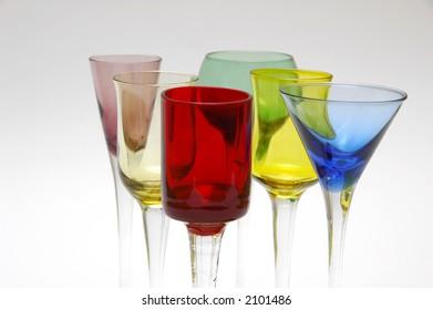 Cocktail Glasses Closeup