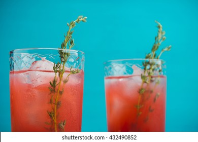 Cocktail made of Sicilian orange on the rustic wooden background