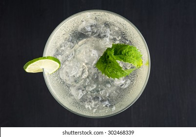 Cocktail margarita on the dark background