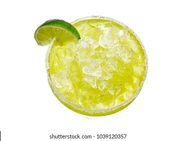 Cocktail margarita, top view