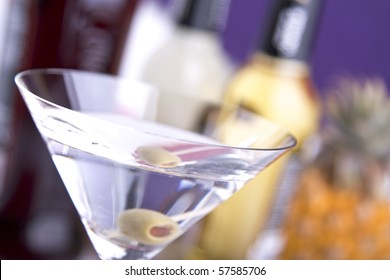 Cocktail Martini in a cocktail coupe
