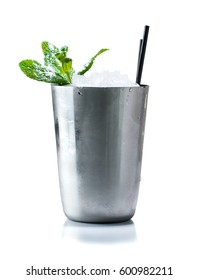 Cocktail Mint julep isolated on white background