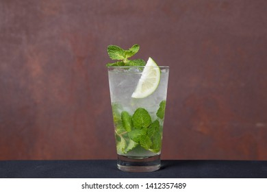 cocktail mojito with mint and lemon