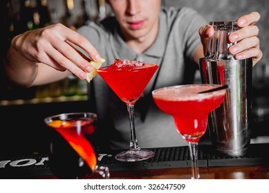 Cocktail on the table. Bar, Restaurant