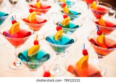 cocktail reception in glasses