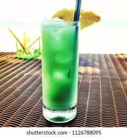 Cocktail served at the beach