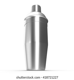 Cocktail shaker. Isolated on white. 3D illustration.