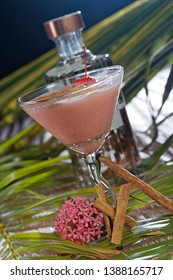 Cocktail Silk Stockings is a very popular beverage with tequila, grenadine, white cocoa liqueur, and cream. It is served in a cocktail glass.