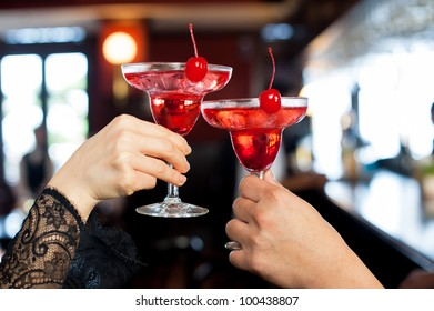 Cocktail toasting