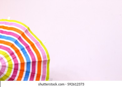 Cocktail Umbrella, Bright Summer Stripes