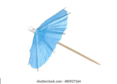 Cocktail umbrella isolated on a white background