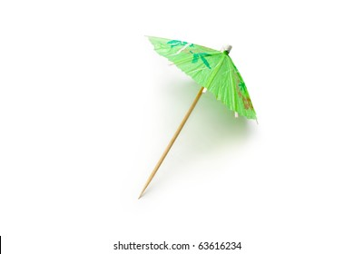 Cocktail Umbrella Isolated On White