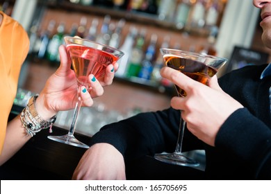 cocktails at the disco - Stock Image