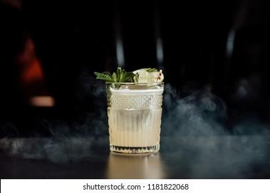 cocktails drinks on the black background