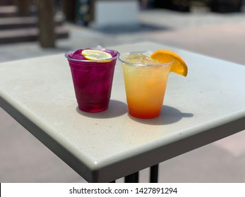 Cocktails at Epcot Japan pavilion