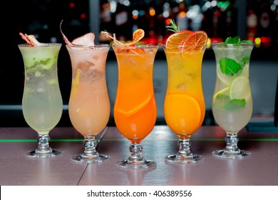 cocktails and soft drinks