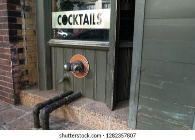 Cocktails window display
