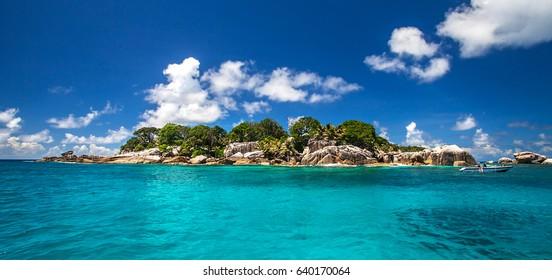 Coco Island close to La Digue, Seychelles