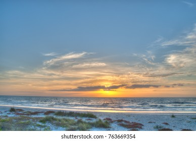 Cocoa Beach Florida at Sunrise