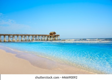 Cocoa Beach pier in Cape Canaveral of Florida near Orlando