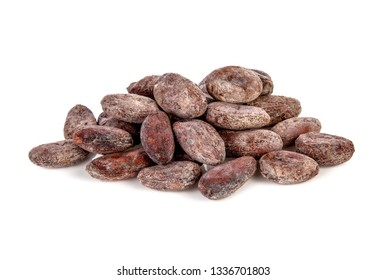 cocoa bean isolated on white background