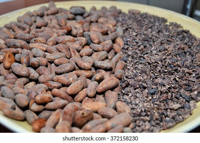 Cocoa beans and Cocoa beans crushed